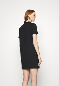 Calvin Klein Jeans - CENTER MONOGRAM DRESS - Sukienka z dżerseju - black - 2