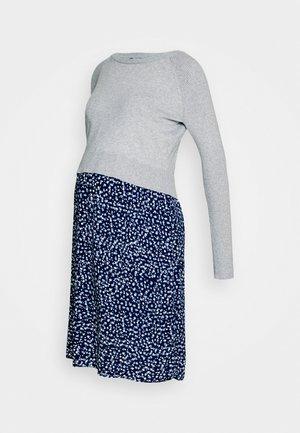 PHILOMENA LAYERED MATERNITY DRESS - Jerseyjurk - grey/navy
