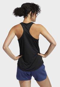 adidas Performance - OWN THE RUN 3-STRIPES PB TANK TOP - Sports shirt - black - 1