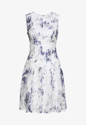 RUFFLE EDGE FIT AND FLARE - Cocktail dress / Party dress - petunia white/lilac