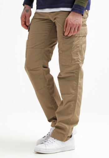COLUMBIA - Cargo trousers - leather rinsed