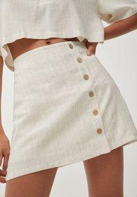 PULL&BEAR - Áčková sukně - beige - 4