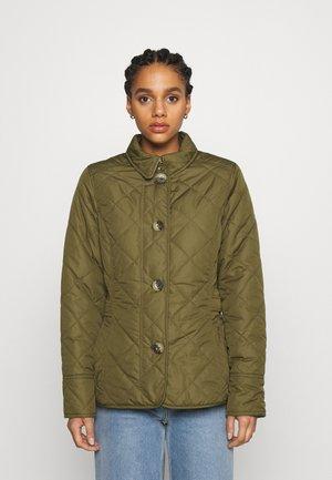 BOUR NELSON QUILT - Light jacket - olive/olive mist tartan