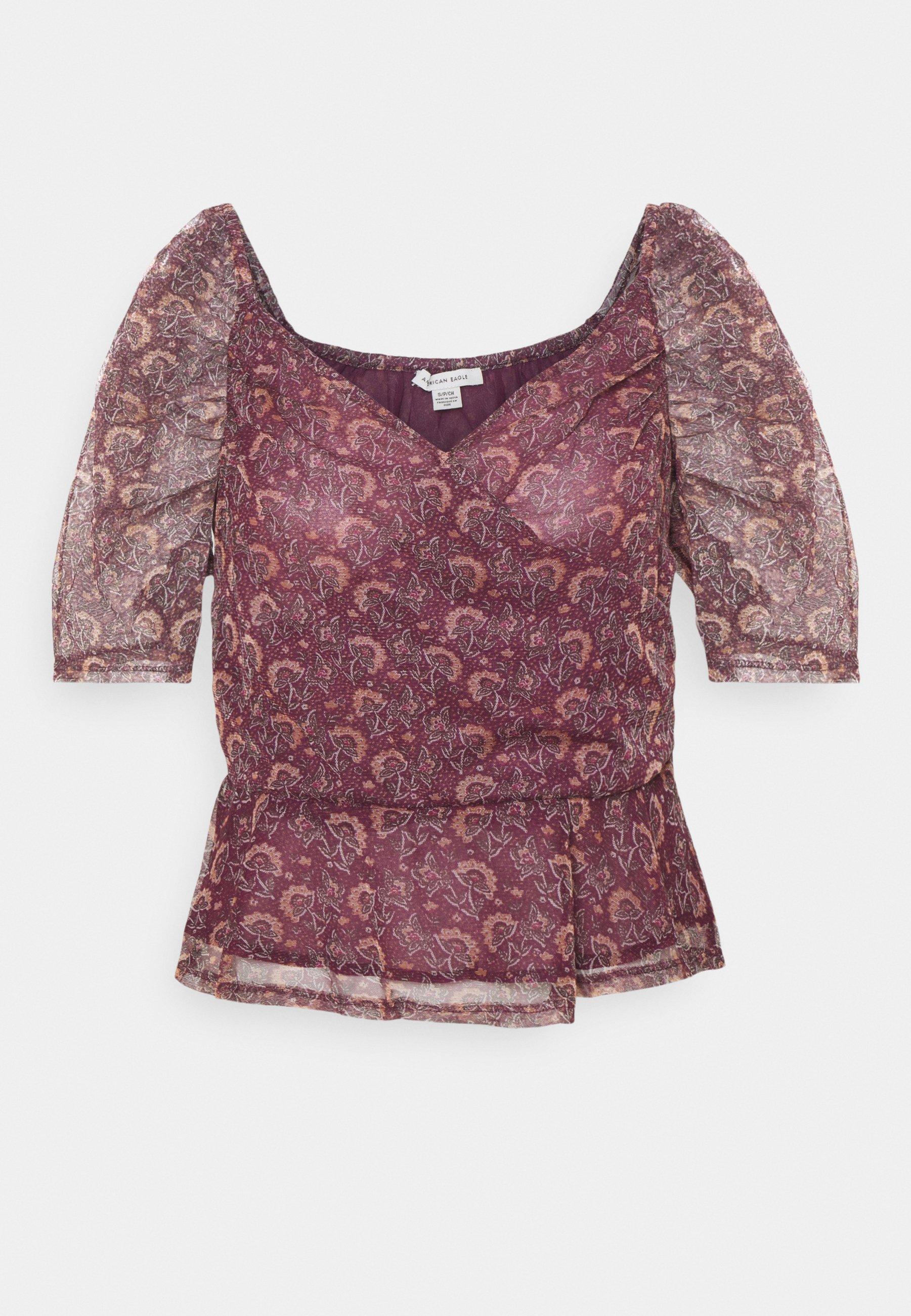 Donna PUFF SLEEVE SURPLICE - T-shirt con stampa
