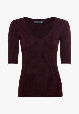T-shirt con stampa - burgunder