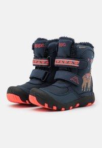 Kappa - LAMA TEX UNISEX - Winter boots - navy/coral - 1