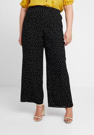 SPOT PRINT PEBBLE TROUSER - Trousers - black