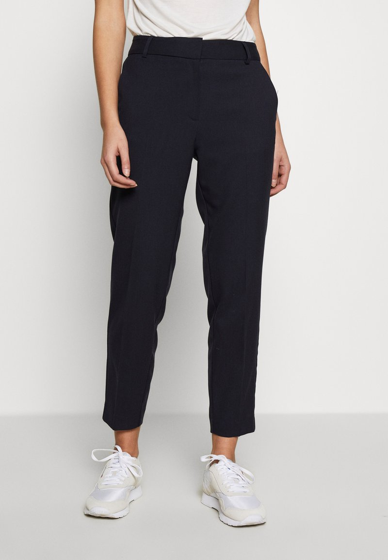 Selected Femme - SLFRIA CROPPED PANT - Trousers - dark sapphire
