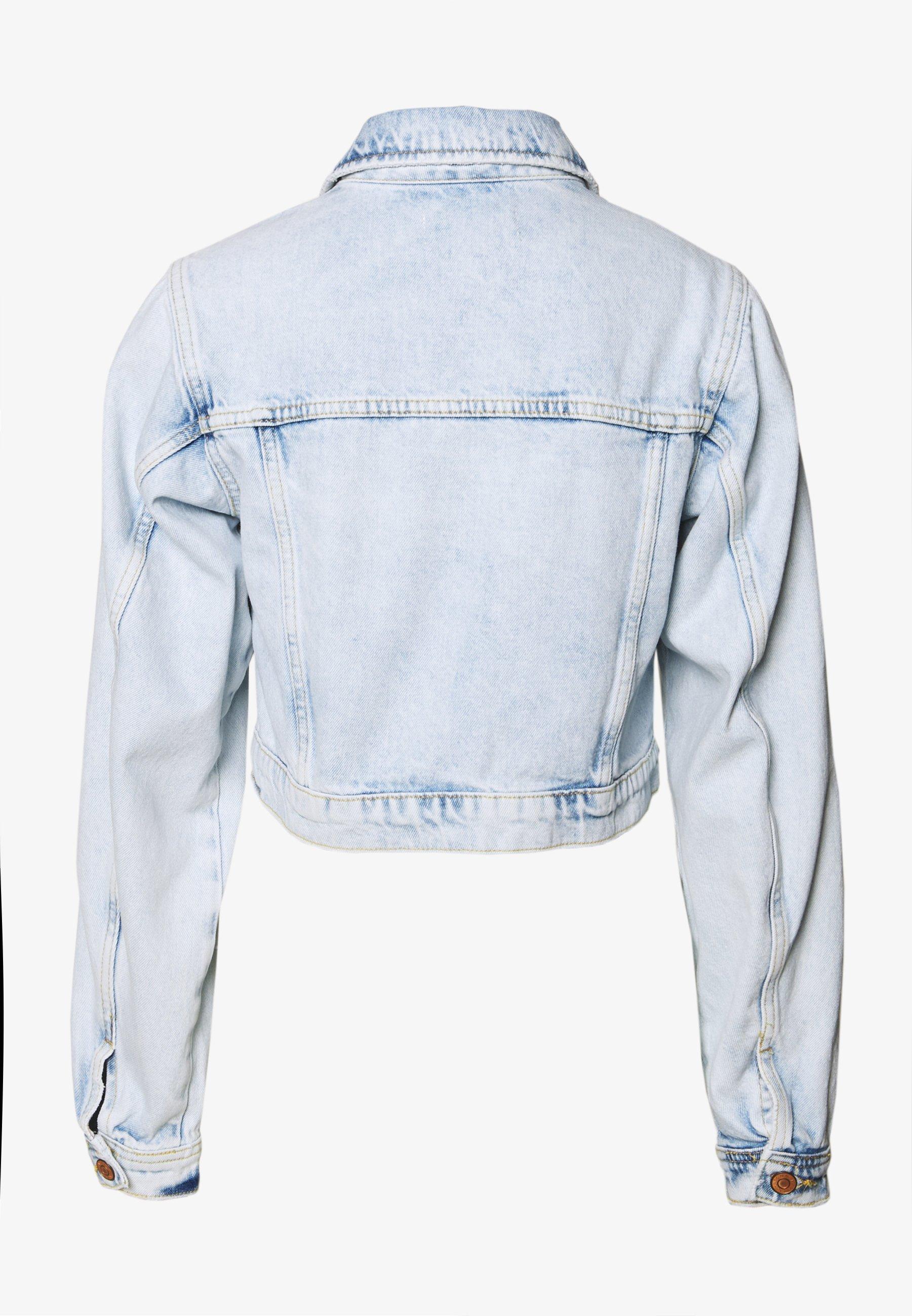 New Look SLEEVE - Jeansjakke - light blue