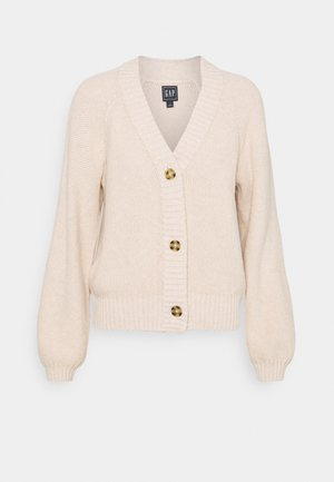 TEXTURED ABBREVIATED - Cardigan - marshmallow
