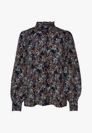 Button-down blouse - medieval blue