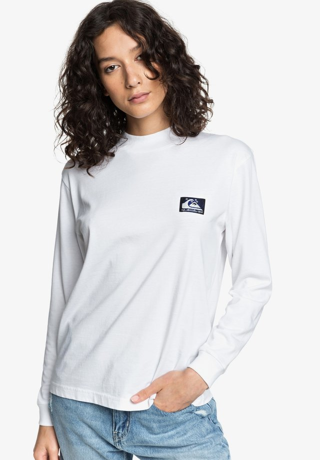 MIT KRAGEN FÜR FRAUEN - Long sleeved top - white