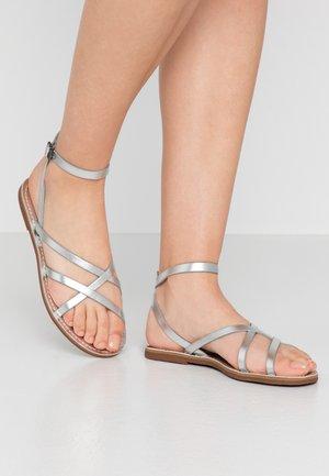 BOARDWALK SKINNY - Sandals - silver