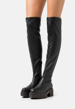 ROXANA - Stivali con plateau - black
