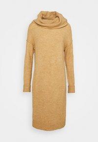 VMLUCI COWLNECK DRESS - Jumper dress - tan melange