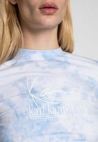 Karl Kani - SIGNATURE TIE DYE CROPPED - Long sleeved top - white - 4