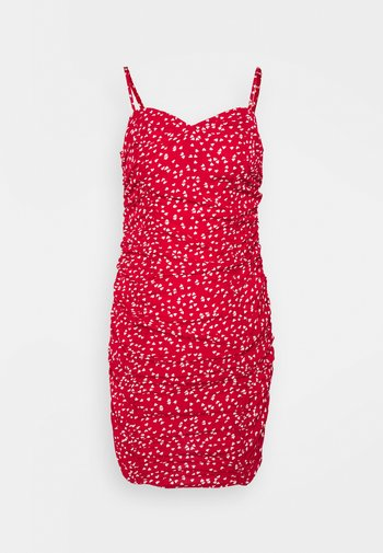 HEART RUCHED DRESS - Kjole - red