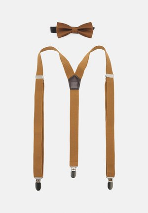 ONSBOWTIE SUSPENDER SET - Fluga - brown sugar