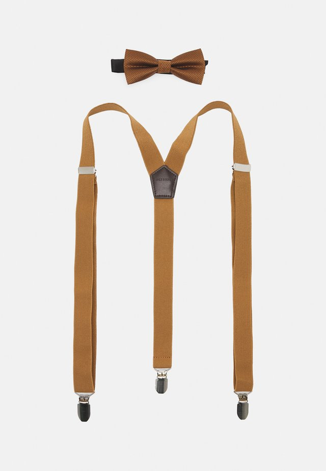 ONSBOWTIE SUSPENDER SET - Noeud papillon - brown sugar