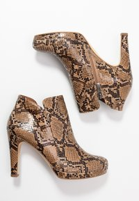 Tamaris - High heeled ankle boots - nut - 3