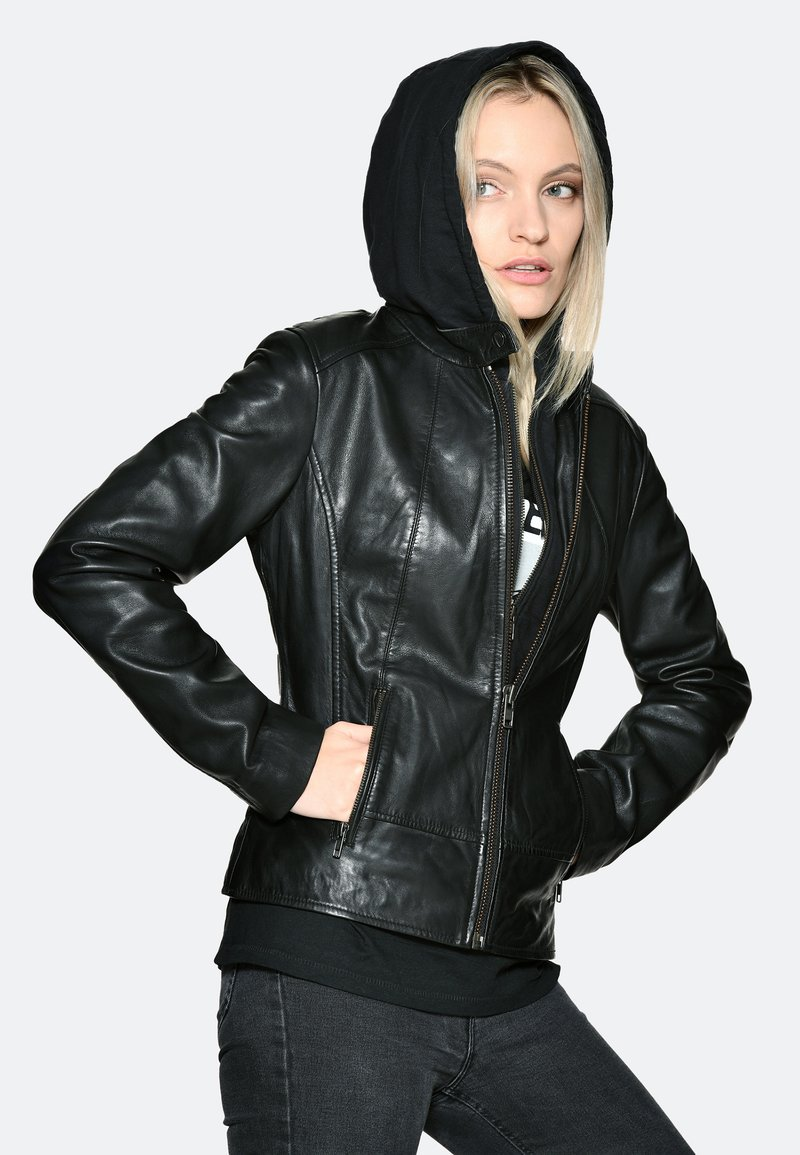 JCC - Leather jacket - black
