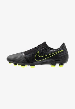 PHANTOM  ACADEMY FG - Moulded stud football boots - black/volt