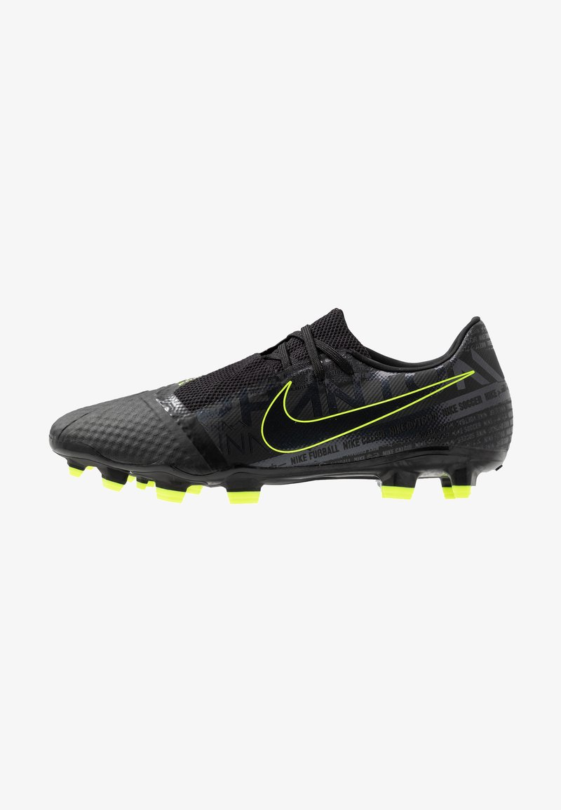 Nike Performance - PHANTOM  ACADEMY FG - Moulded stud football boots - black/volt