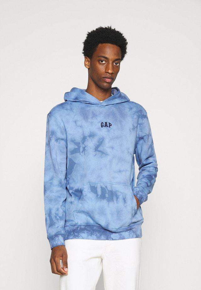 MINI LOGO - Hoodie - blue tie dye