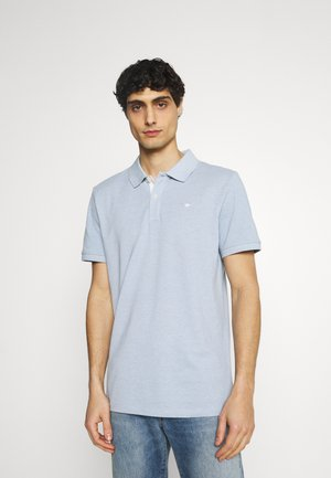 BASIC WITH CONTRAST - Polo - dusk blue white melange