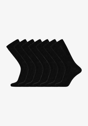 7-PACK - Strumpor - black