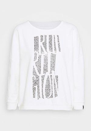 C NECK TRUE STONES - Sweatshirt - blanc