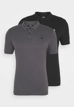 2 PACK - Polotričko - black/dark grey