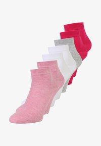 pink melange/white/pink rose/fog melange