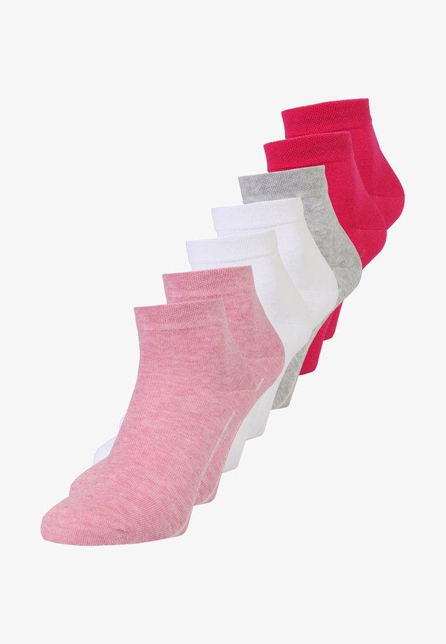 BOX 7 PACK - Sokken - pink melange/white/pink rose/fog melange