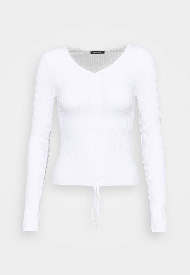 LACIVERT - Long sleeved top - white