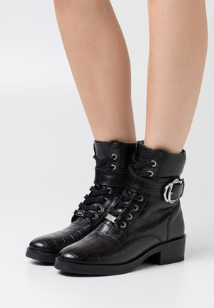 DALEY - Lace-up ankle boots - black