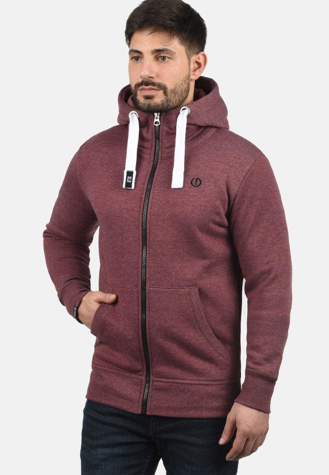 BENN  - Zip-up hoodie - wine red
