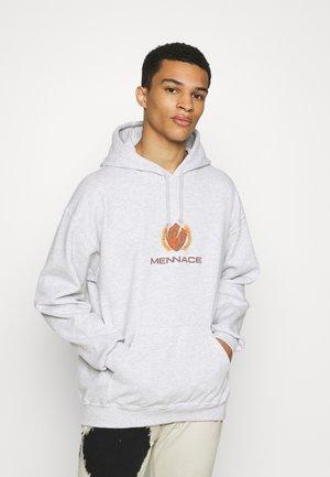 MENNACE PETROL FLAME CAR REGULAR HOODIE - Sweatshirt - ice marl