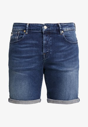 GET KNOTTED - Denim shorts - dark-blue denim