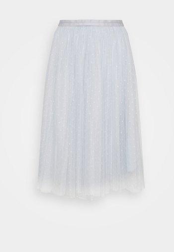 KISSES MIDI SKIRT EXCLUSIVE - Áčková sukně - blue mist