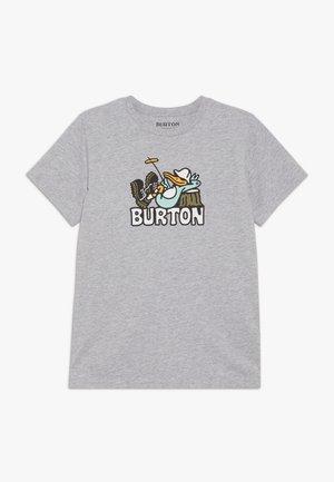 T-shirt print - gray heather
