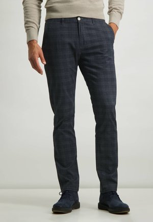 MODERN CLASSICS SEBRING CHINO - Trousers - dark-brown plain