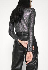 Gina Tricot - JONNA - Bluzka z długim rękawem - black/silver - 4