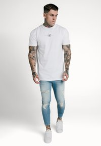 SIKSILK - DISTRESSED SUPER  - Skinny džíny - light-blue denim - 1