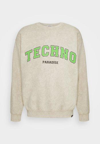 TECHNO PARADISE - Collegepaita - sand