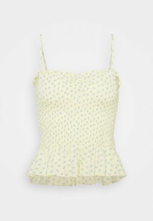 CINCH FRONT SMOCK TUBE - Top - yellow