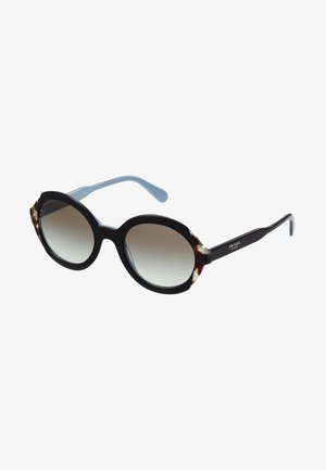 Sunglasses - top black/azure/spotted brown