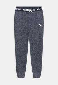 Abercrombie & Fitch - LOGO - Tracksuit bottoms - textured navy - 0