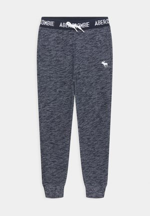 LOGO - Tracksuit bottoms - textured navy