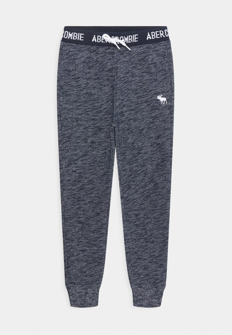 Abercrombie & Fitch - LOGO - Tracksuit bottoms - textured navy